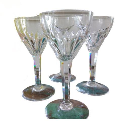 Vintage Kristallen Wijn- En Likeurglazen