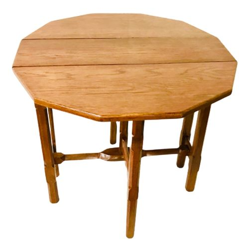 Antiek Eikenhouten Klep Tafel