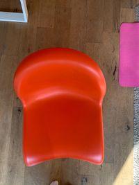 Set Van 4 Vitra Panton Design Stoelen (Oranje)