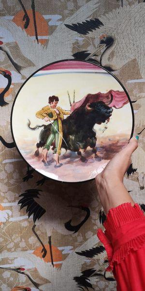 Wandbord Stierenvechter