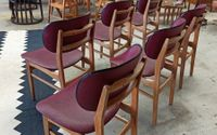 Set Van 4 Vintage Mid Century Stoelen