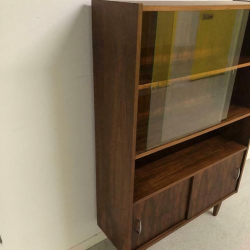 Vintage Highboard Wandkast Teak