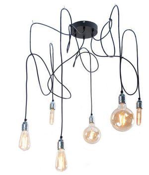 Hanglamp Met Gouden Fitting Inclusief Led Lampen (6 Stuks) Trendhopper