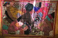 Handgemaakt Patchwork Wandkleed Met Pailletten Uit Spanje