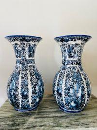 Delfia Vintage Vazen Set Blauw
