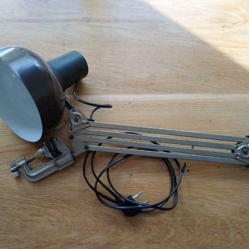 Vintage Bureaulamp Desk Lamp, Lival, Made In Finland