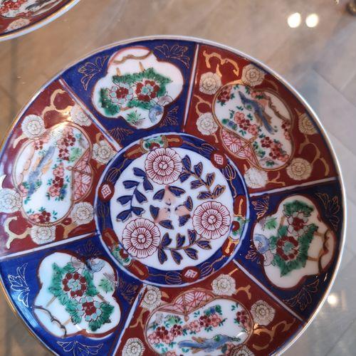 Hand Geschilderde Wand Bordjes Uit Japan - Gold Imari